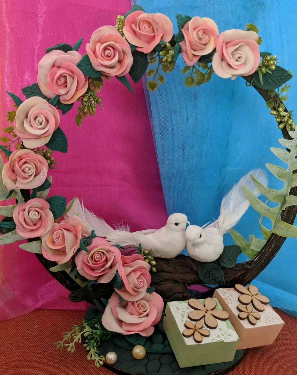 Image result for love birds engagement tray design,nari