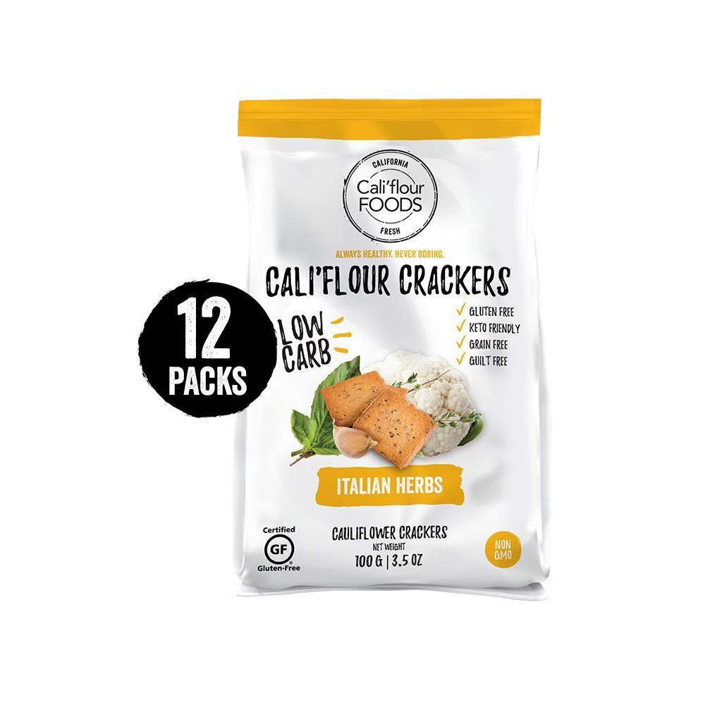 Cauliflower Cracker Thins Cali Flour Foods Italian Herb Food Gluten Free Grains