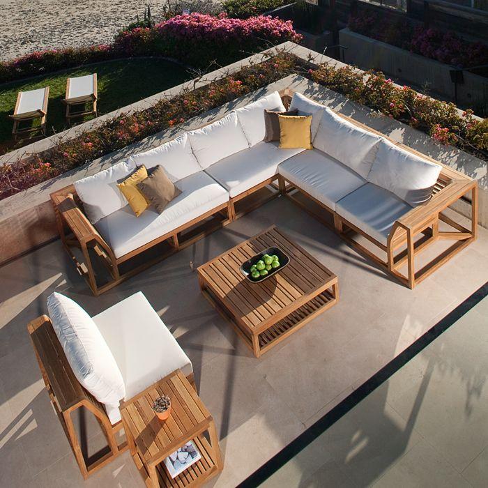 Maya Teak Sectional - Westminster Teak Outdoor Furniture | White ...