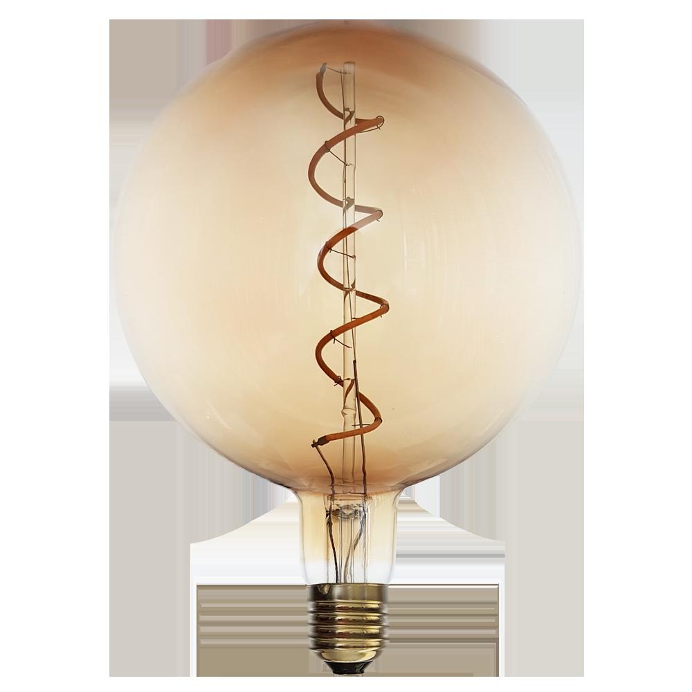 6 watt edison dimmable long filament led bulb e27 2200k edison 4 watt vintage edison g150 amber spiral dimmable led filament bulb e27 parisarafo Gallery
