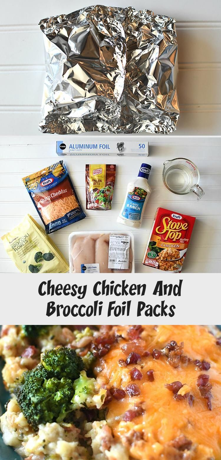 Photo of Cheesy Chicken And Broccoli Foil Packs – Winter