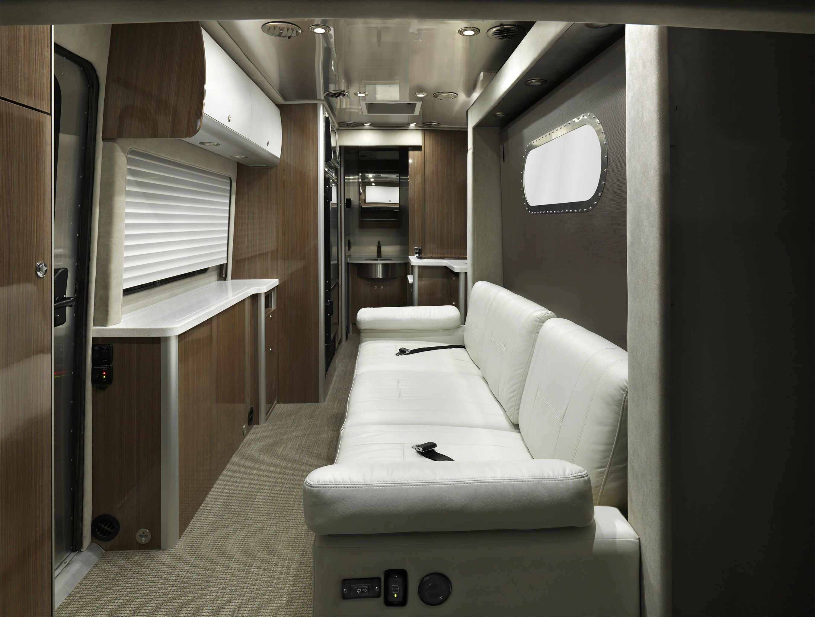 Airstream Class B >> Airstream 2018 Atlas luxury motorhome sofa. | Mercedes benz diesel, Motorhome, Camper van