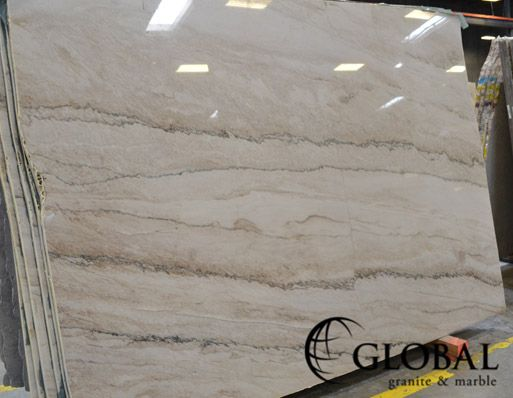 Calacatta Quartzite Off White And Beige Background With