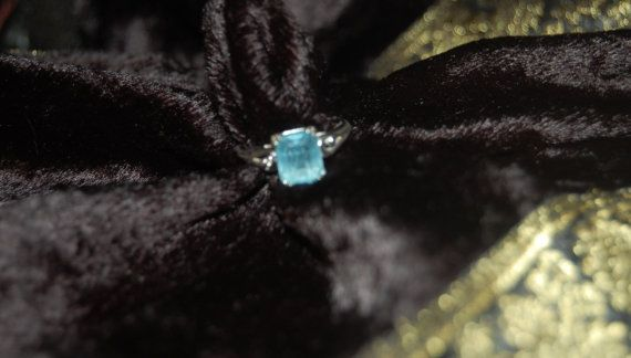 Vintage Ring  AVON Silver Tone with Light Blue by KIMPLICITY, $7.00