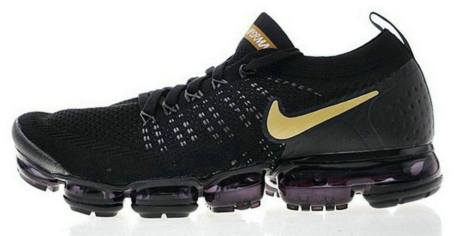 fa476e2d78b06 Real 2018 Nike Air Vapormax 2 0 Core Black Gold 942842 009 Sneaker ...