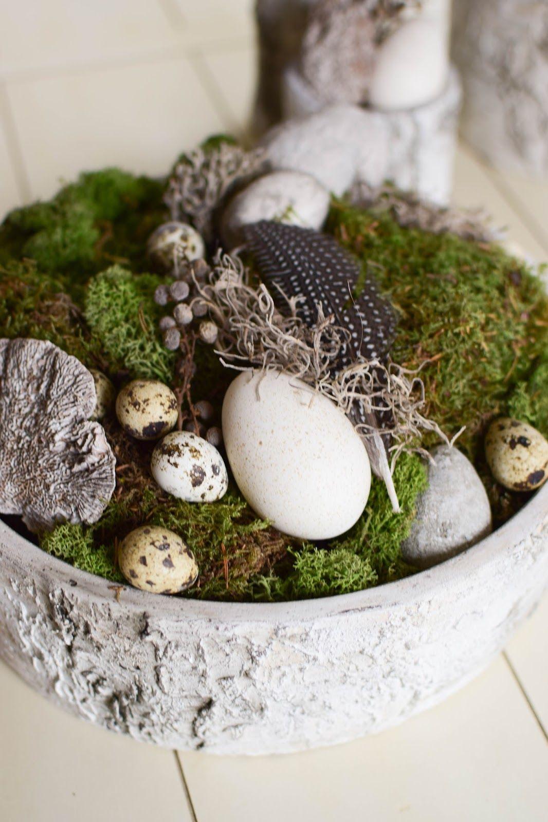 Deko Aus Naturmaterialien Selber Machen Ostern Gedecktes Oster