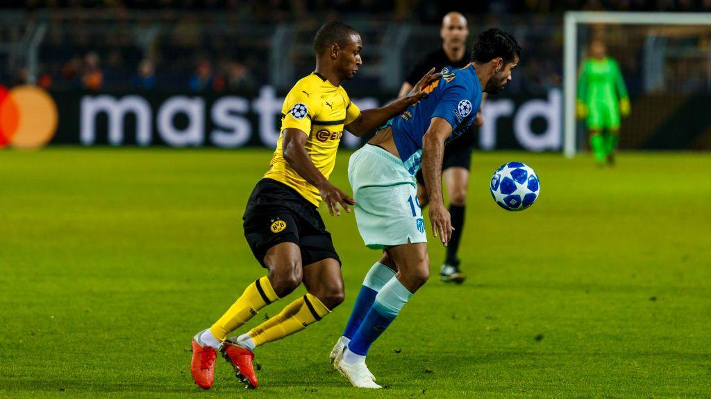 Abdou Diallo Of Borussia Dortmund And Diego Costa Of Atletico De Borussia Dortmund Dortmund Atletico De Madrid
