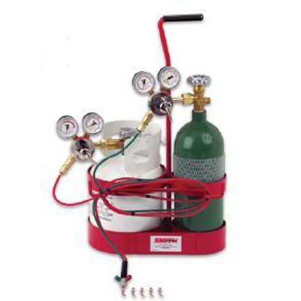 Miller Smith 23 1015p Little Torch 5 Propane Caddy Jeweler Propane Torch Oxygen Tanks