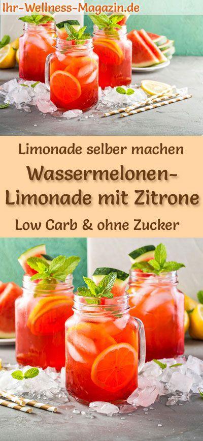 Wassermelonen-Limonade mit Zitrone selber machen - Low Carb & ohne Zucker