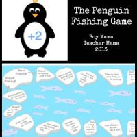 Teacher Mama: The Penguin Fishing Game: A Game About More and Less - Boy Mama Teacher Mama