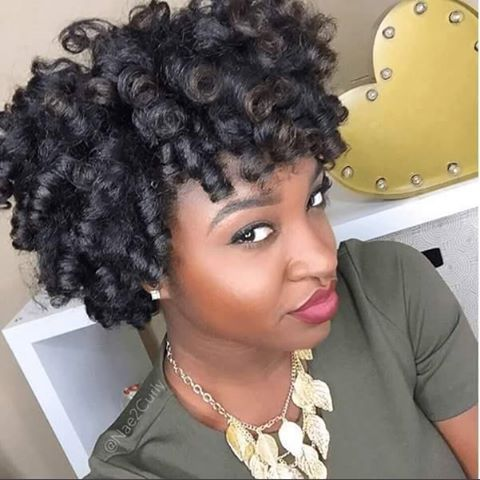 curly short hairstyles black roller