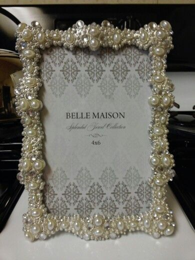 Jeweled Picture Frame From Kohls Jeweled Picture Frame Jeweled Picture Glam Bridesmaid