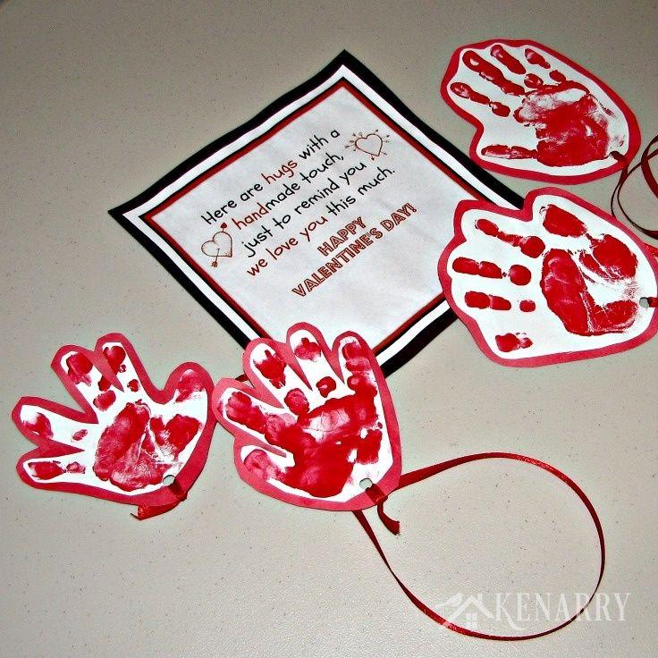 kids valentine card idea sending a long distance hug - Valentine Card Ideas For Kids