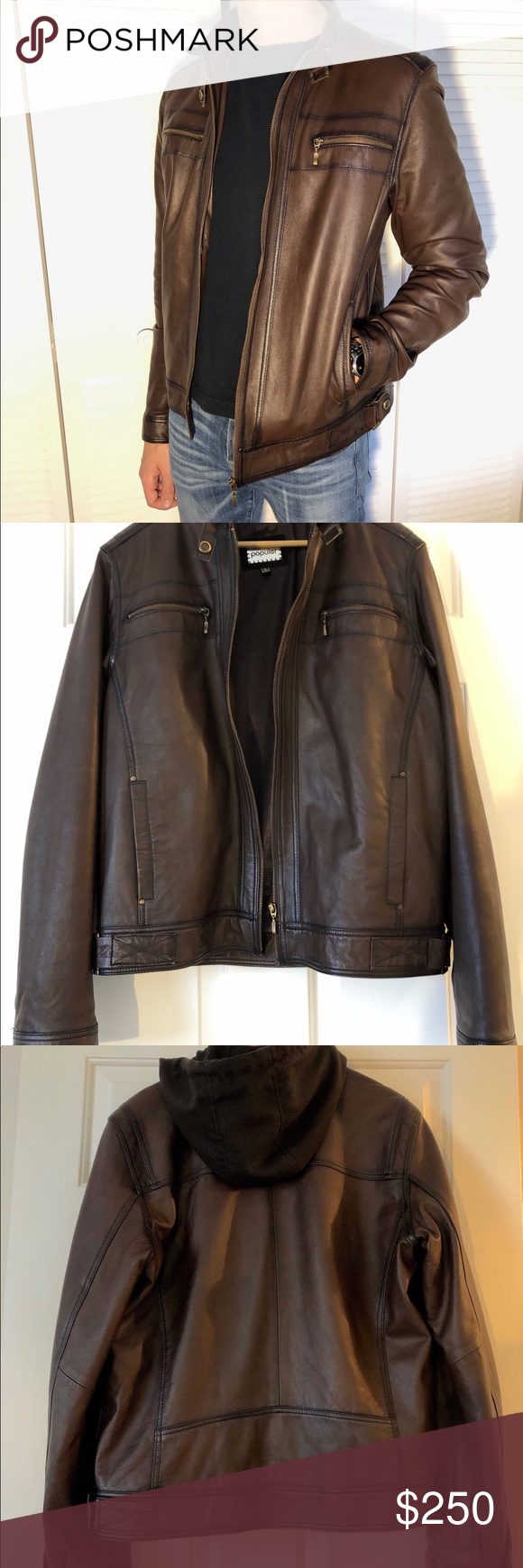 Efes Popular Turkish Genuine Lamb Leather Jacket The Leather Is Dark Brown With A Bit Of Darker Brown Patina Around Lamb Leather Jacket Leather Jacket Fashion [ 1740 x 580 Pixel ]