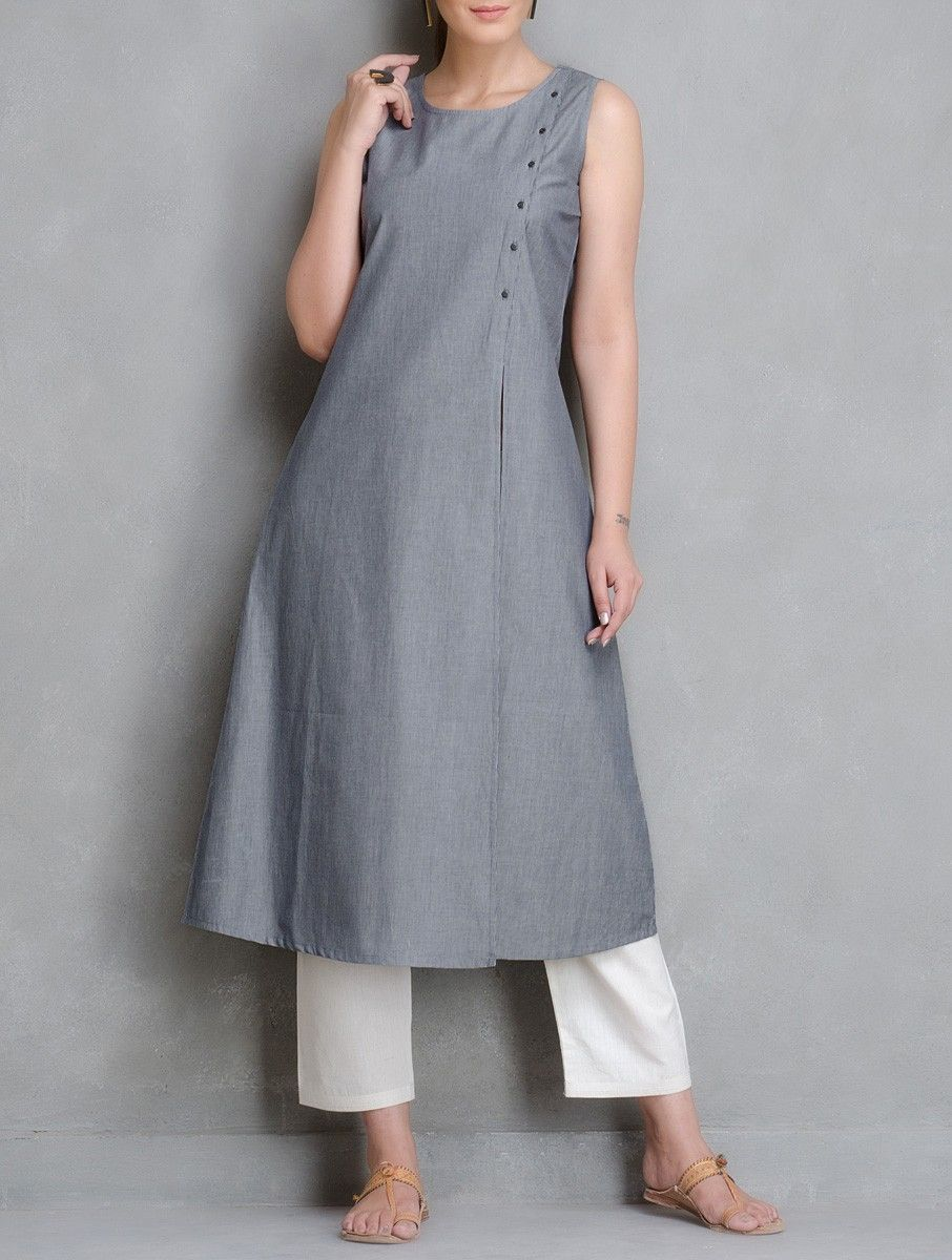 The Wooden Closet - Yarn Dyed Pin striped Kurta with an open front ...