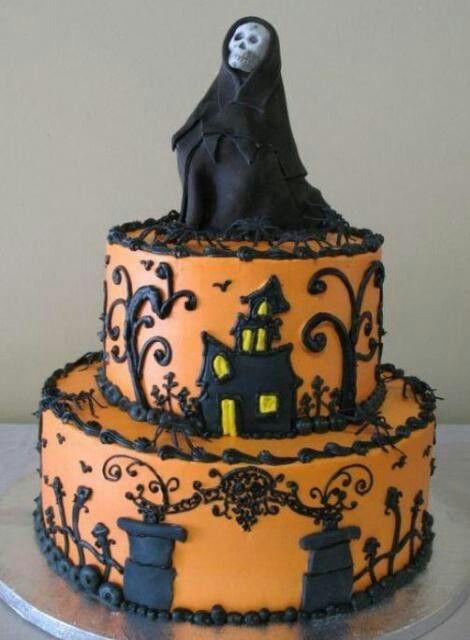 Pin by Vesi Black on SCARY SWEET Pinterest Scary - halloween birthday cake ideas