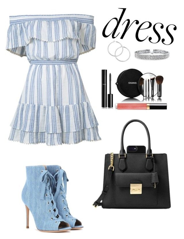 """Untitled #176"" by tvw-fashion ❤ liked on Polyvore featuring LoveShackFancy, Gianvito Rossi, Michael Kors, Bling Jewelry and Chanel"