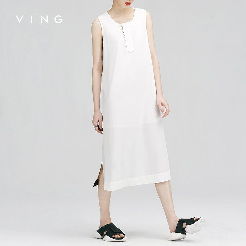 VING Dresses 2016 Summer Wommen Patchwork Hollow Out Chiffon Slim Dress * Check out the image by visiting the link.