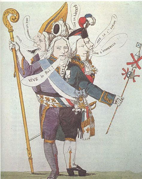 The Man With Six Heads Caricature Of Charles Maurice De Talleyrand Perigord The French Diplomat And Statesman Charles M Napoleon Bonaparte Napoleon Satira