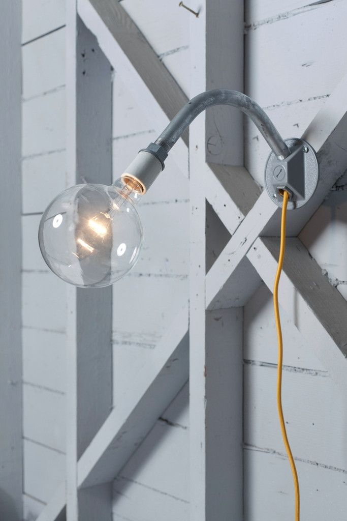 Industrial Wall Light - Plug In | Industrial wall lights, Industrial ...