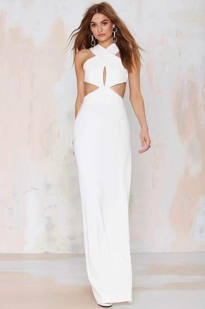 Solace London Mona Cutout Maxi Dress - Going Out | Midi + Maxi | Solid | Solace London
