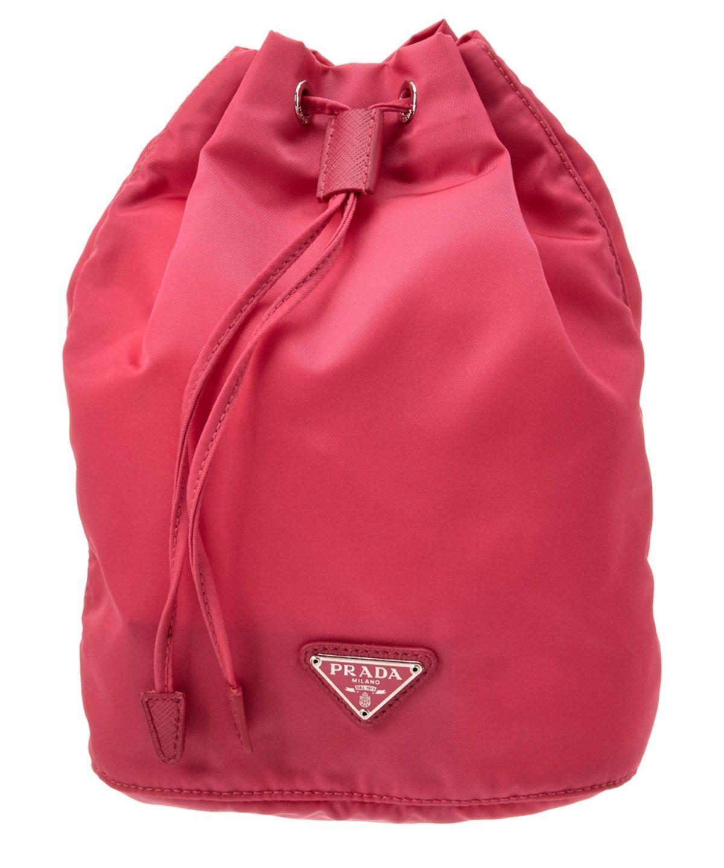 638797a4390e PRADA PRADA VELA NYLON DRAWSTRING BAG'. #prada #bags #leather #lining #nylon  #