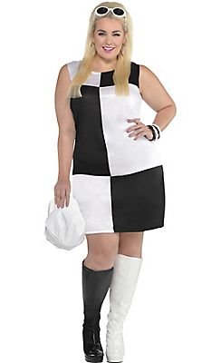 Adult Mod Girl 60s Costume Plus Size