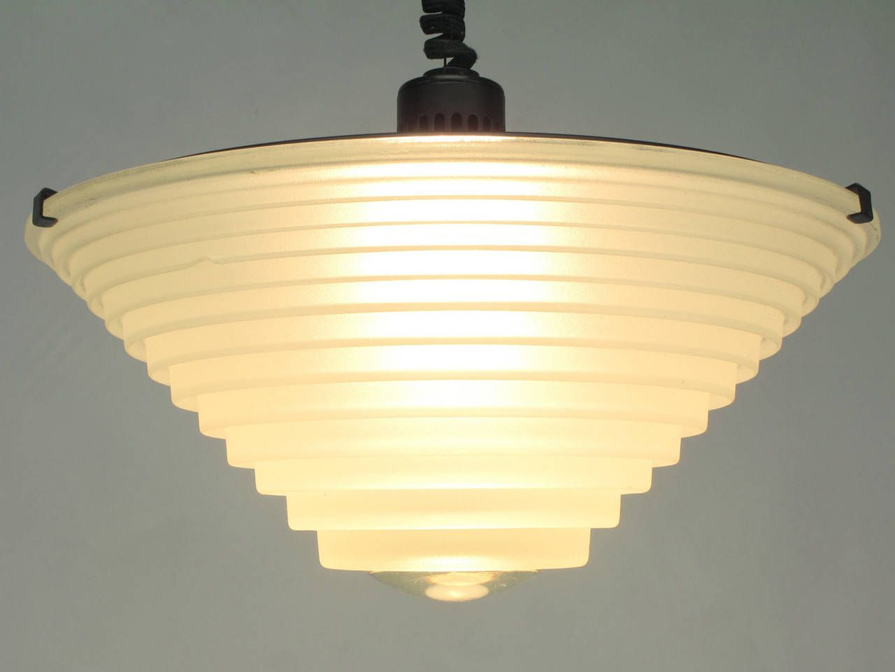 Pair Of Angelo Mangiarotti Egina Pendants For Artemide SpA