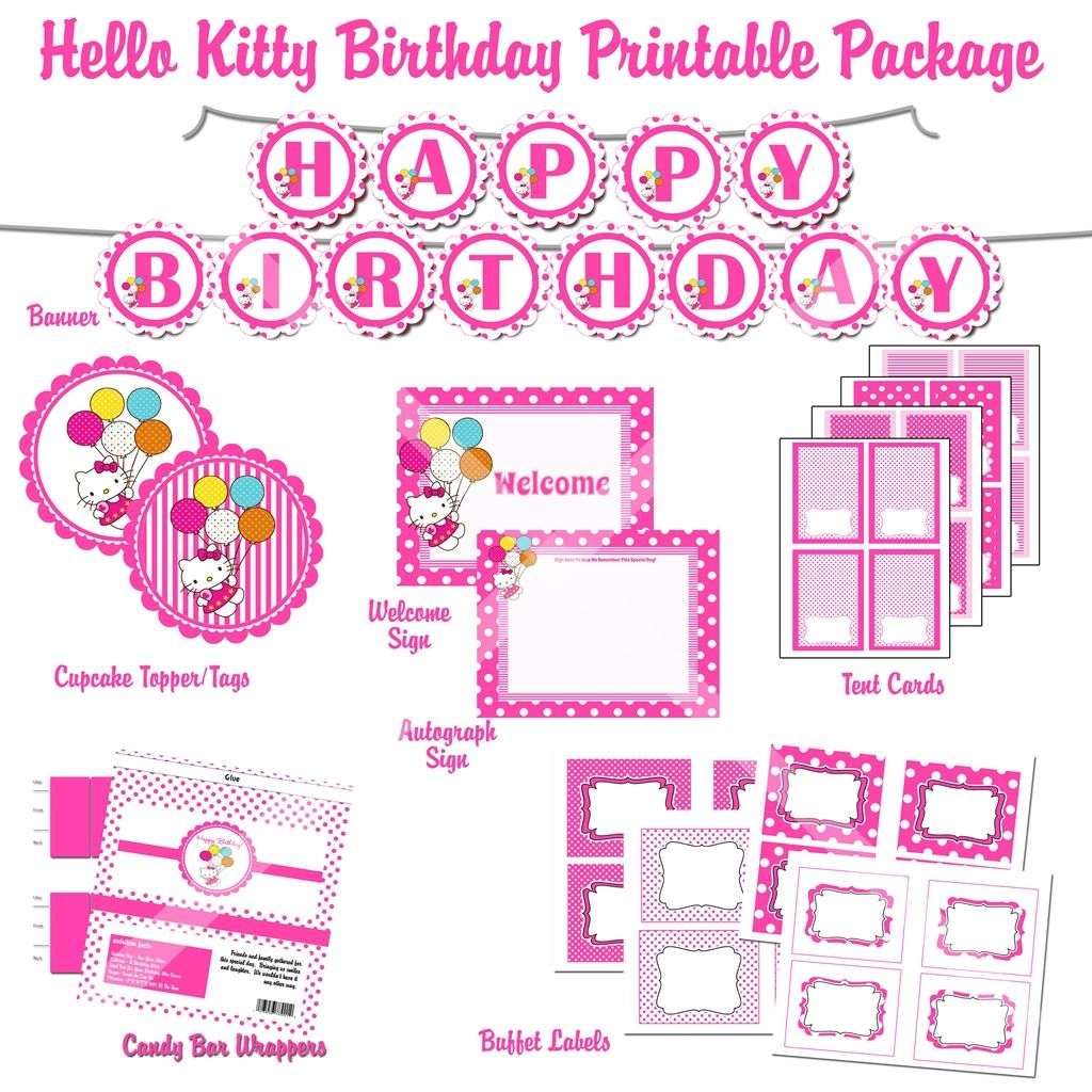 free printable hello kitty 1st birthday invitations invitetown