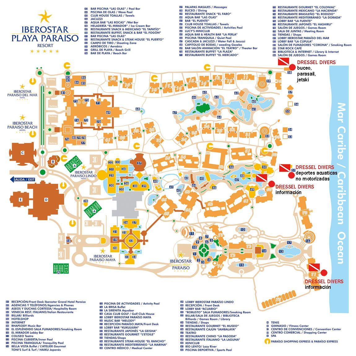 Iberostar Paraiso Map