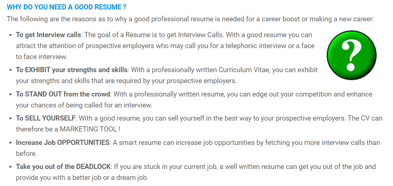 why do you need a good resume in 2020 Resume writing