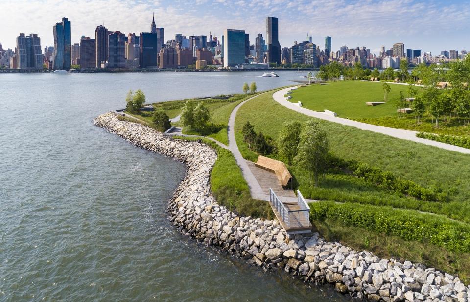 猎人角南水滨公园二期工程 纽约 Swa Balsley Weiss Manfredi Arup 谷德设计网 Landscape Waterfront Park