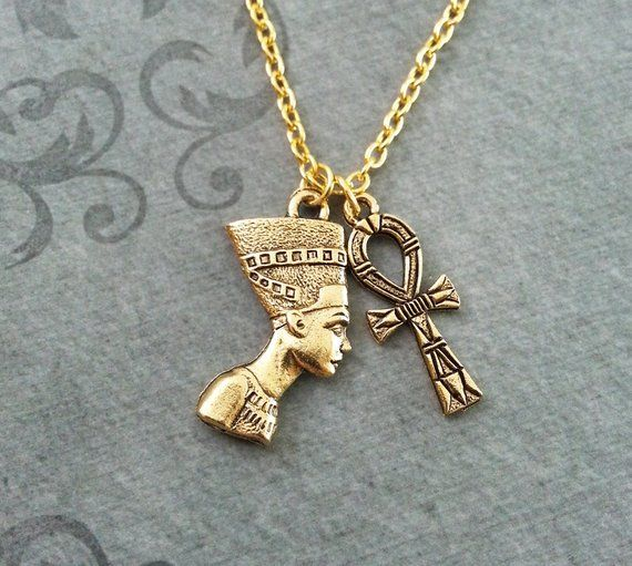 e0bb47f75c17a Nefertiti Necklace SMALL Ankh Necklace Queen Nefertiti Jewelry ...