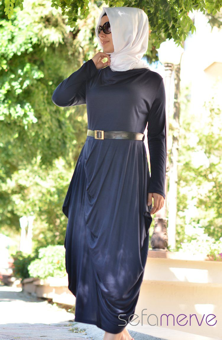 Yazlik Uzun Kollu Elbise 123128 04 Lacivert Elbise Uzun Kollu The Dress