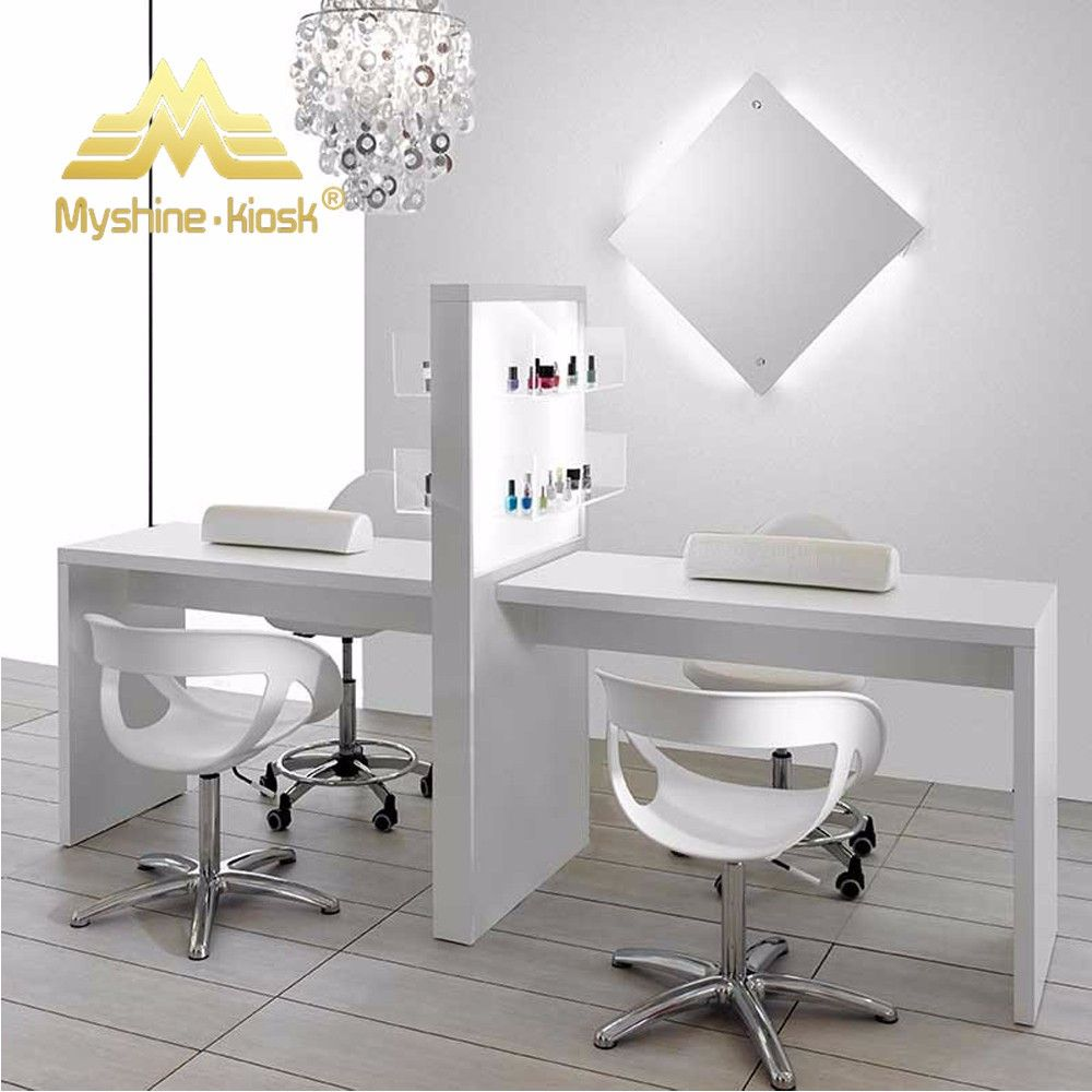 Source cheap double nail manicure salon tables with