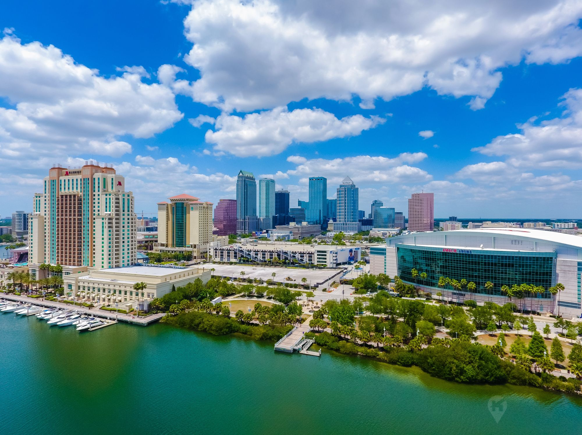 Amalie arena and downtown tampa 2018 downtown tampa