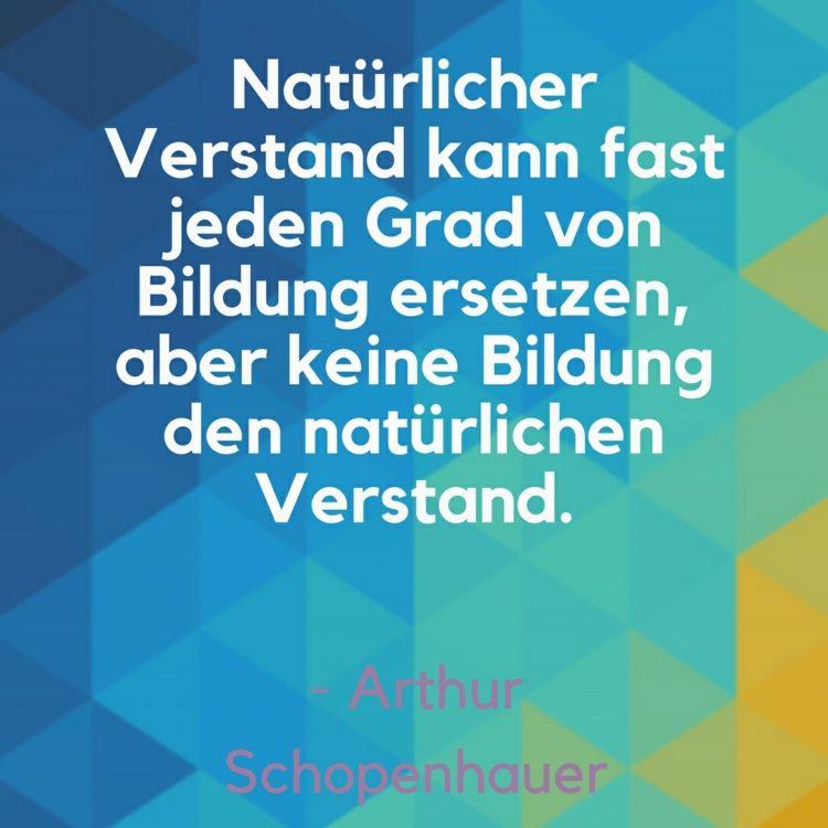 Lustige Zitate Verstand Bildung Ersetzen Arthur Schopenhauer