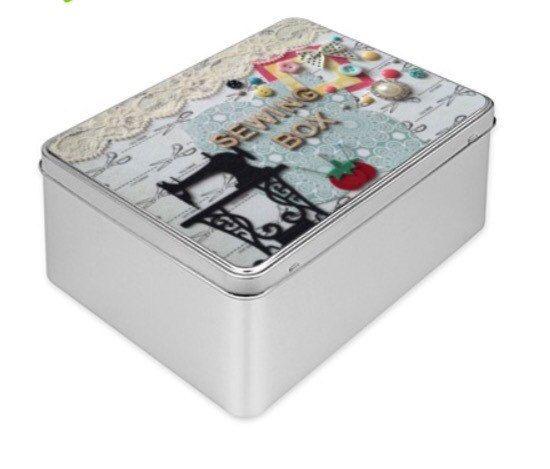 Large Decorative Gift Boxes With Lids Sewing Tin Box Storage Box Special Gift Gift For Her Handmade