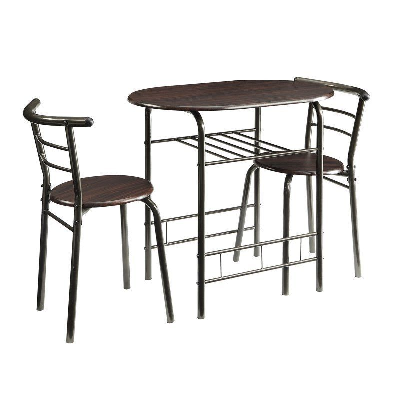 Coaster Furniture Dinettes 3 Piece Dining Table Set Brown