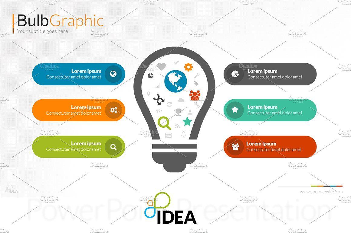 Idea Flat PowerPoint Template | Pinterest