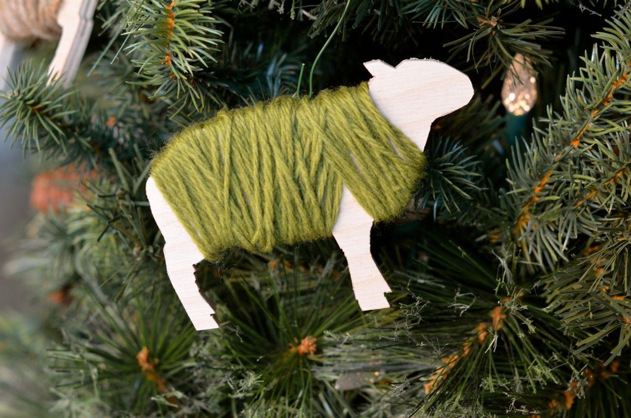 DIY Sheep Christmas Ornaments DIY Sheep Christmas