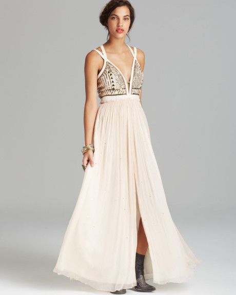 Free People Black Maxi Dress Golden Chalice