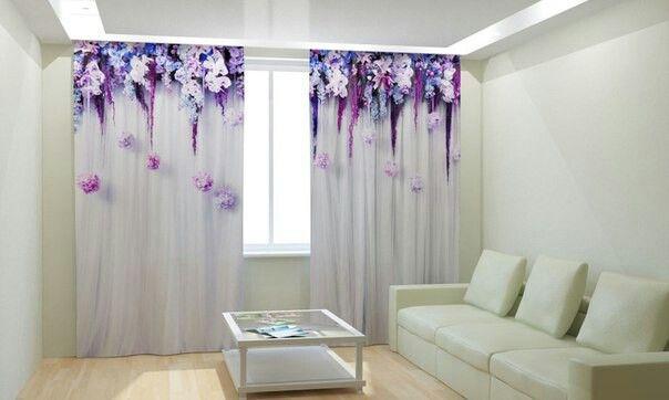Vorhänge Gardine Fotogardinen in Luxus Fotodruck 3D - vorhänge blickdicht schlafzimmer