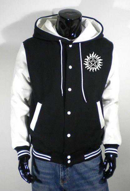 Supernatural Baseball jacket Sweater Sweatshirt clothing coat New
