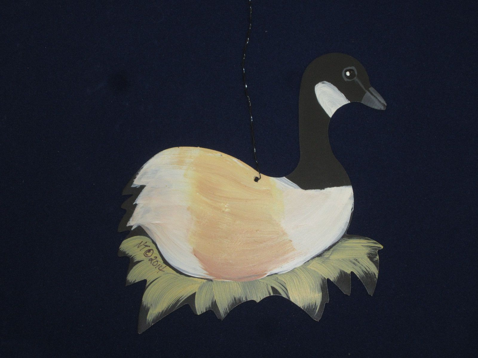 Ornament - Geese A Laying