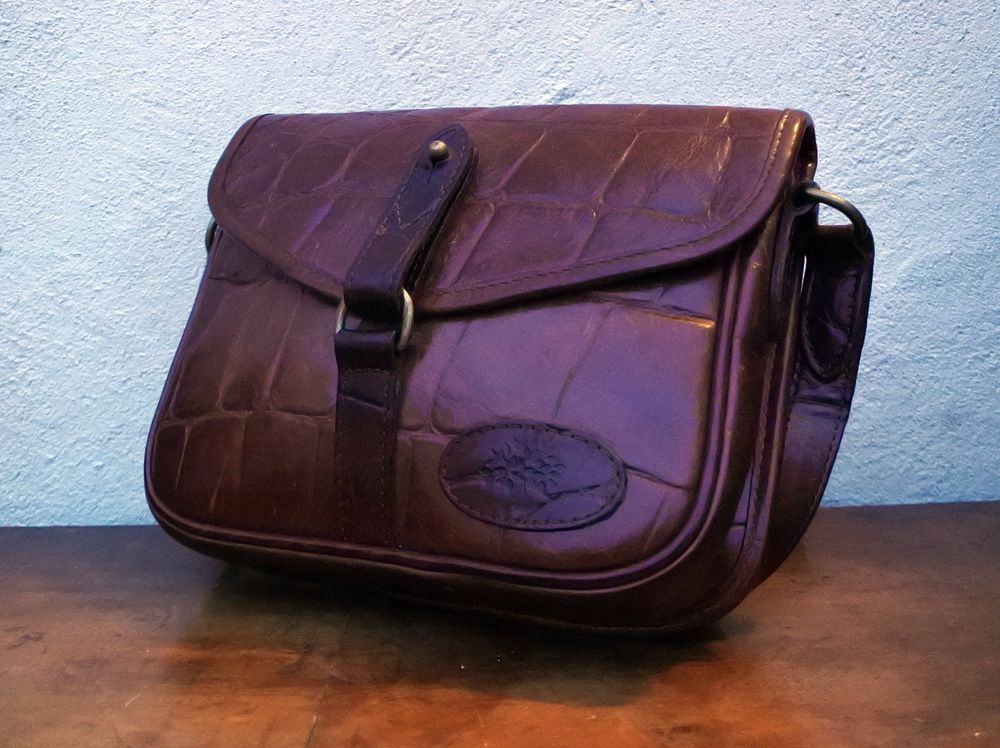 Authentic MULBERRY messenger vintage SATCHEL CONGO REAL LEATER brown vtg BAG   Mulberry  MessengerCrossBody 8adfc5e55daad