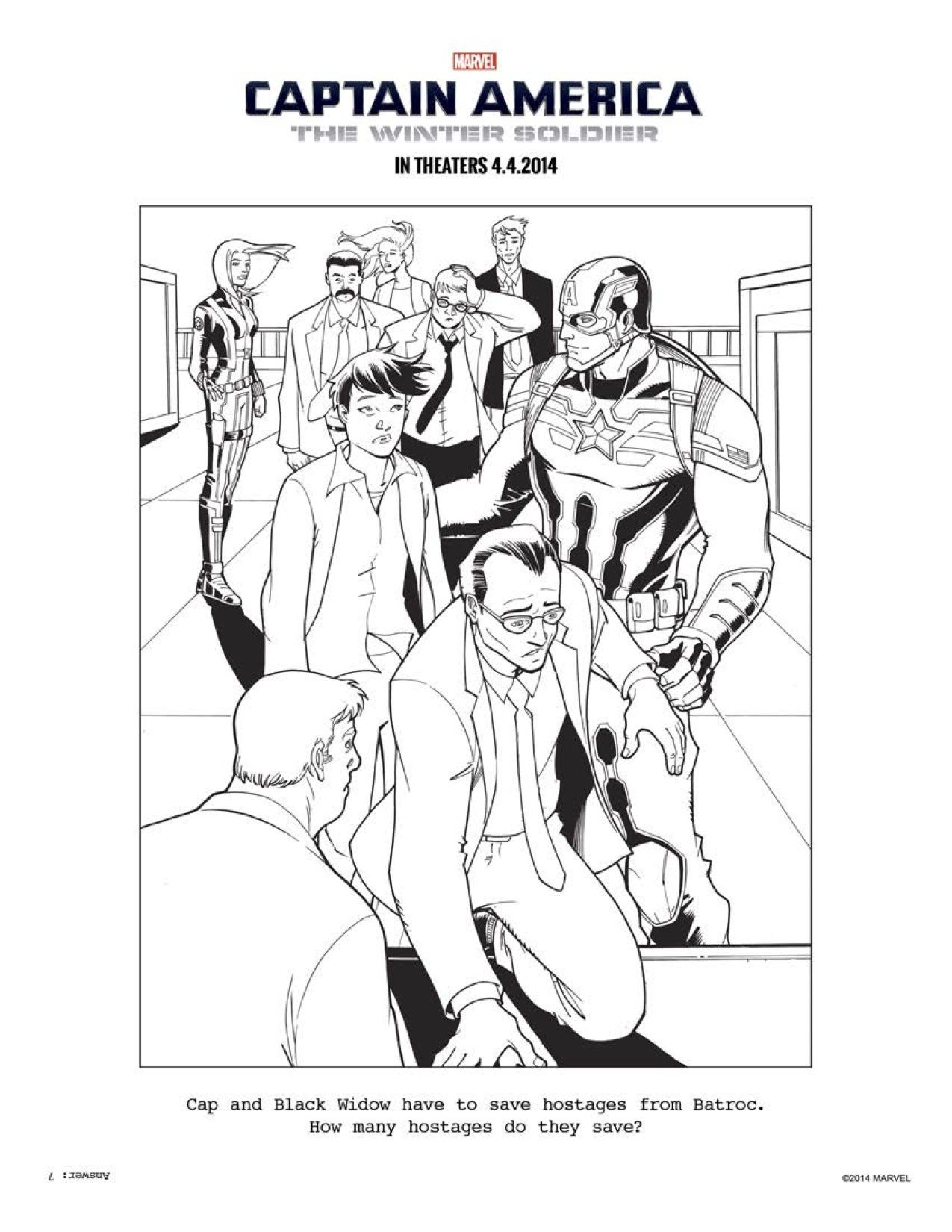 9 CAPTAIN AMERICA: THE WINTER SOLDIER coloring sheets to keep ...