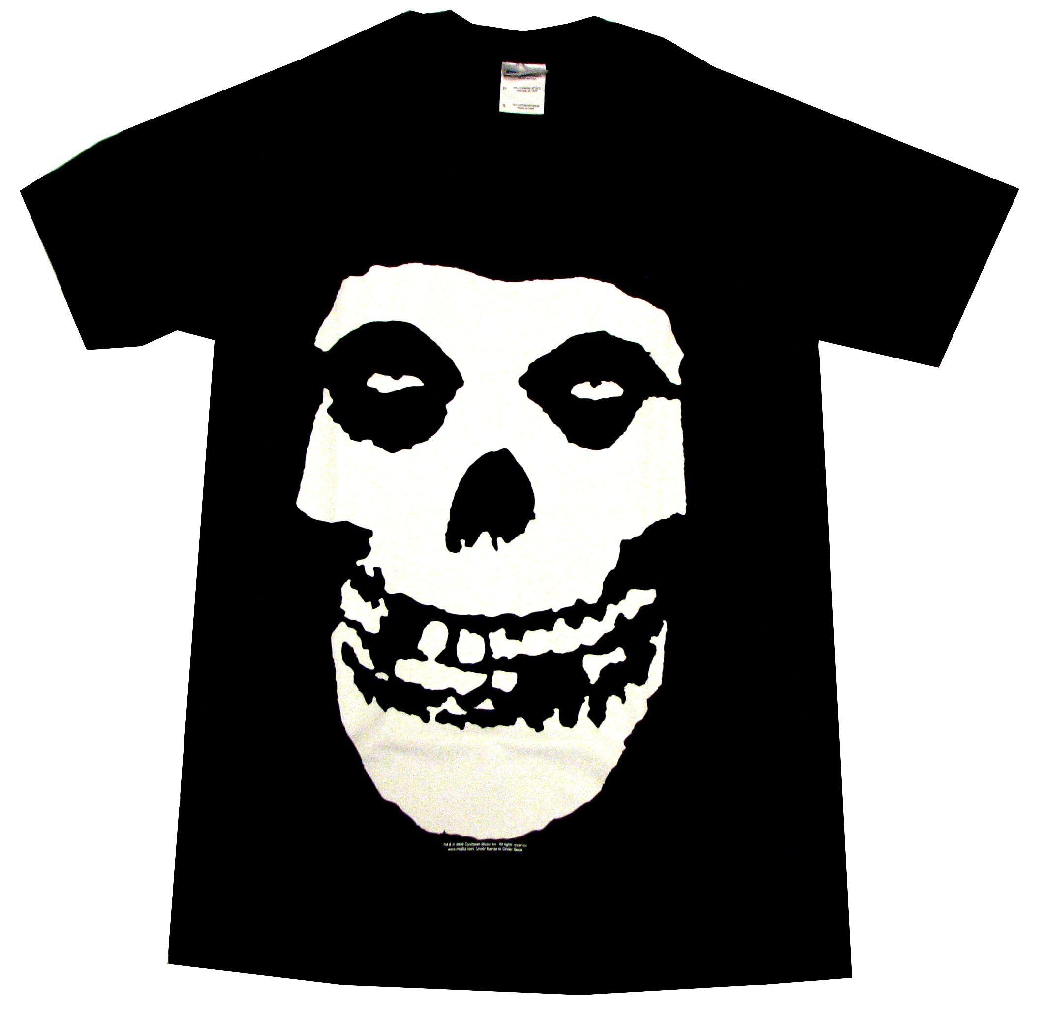 Collectors Mine Herren T-Shirt Misfits-Skull, Gr. 46 (S), Schwarz (Schwarz)