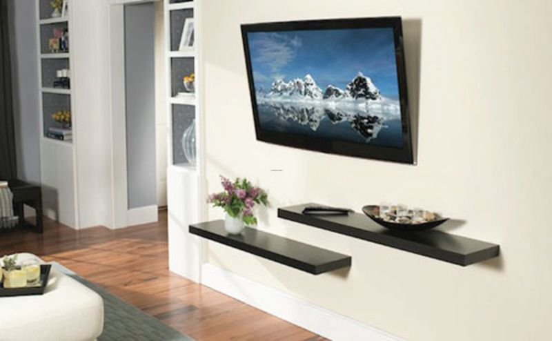 Living Room With Tv Mounted On Wall 18 chic and modern tv wall mount ideas for living room | tv wall
