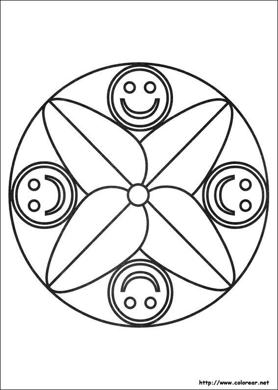 mandalas faciles Mandalas/Vitrais Colorir Pinterest Searching
